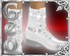 Geo Dress Boots white