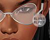 C | Heart Silver Glasses