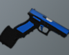 Blue Glock-18 Ext.Mag
