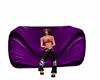 purple bean chair