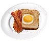 Bacon Egg Toast Plate