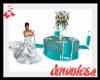 Teal wedding  table