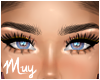 m. Thick lashes