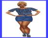 JUK Blue Top n Skirt
