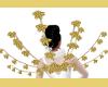 GOLD ROSE FLOWER WINGS