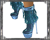 Wicked Blue Fringe Boots
