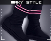 Ms~Black&Pink boots