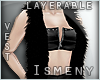[Is] Vest Fur Black Lyrb