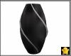 C2u Black Silver Vase