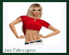 JT Red Cropped Top