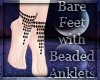 Black Beaded Anklets