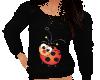 Flat Ladybug Sweater