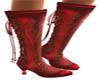 VICTORIAN RED LACE BOOTS