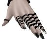 Gloves+Black White Nails