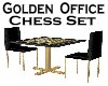 Golden Office Chess Set