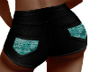 Teal Sequin Party Shorts