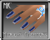 French Tip Sparkle Blue