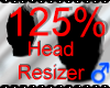 *M* Head Resizer 125%
