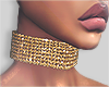 I│Diamond Choker Gold