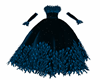 Blue Feather Gown