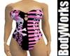 Curvacious PinkSkullSwim