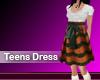 (M) Teens Dress Orange