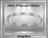 Silver Diamond Choker