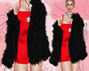 D: Red Dress Faux Fur