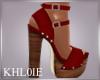 Red Wood Heels