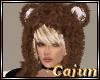 Brown Fur Teddy Bear Hat