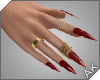 ~AK~ Nails: Gold/Ruby