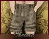 AOP=Beige linen shorts