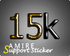 15k Support Sticker