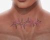 Neck Tattoo Purple Spike