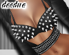=D Metal Bra Top Black