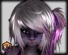 hair silver & purple fur