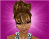 Glamours Updo with Bangs