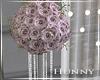 H. Pink Flower Pillar