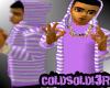 [LF] Pur+W Stripy Hoodie