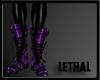 [LS] Pvc leopard purple.