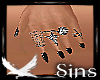 Silver Rings Black Nails