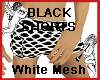 Black Shorts White Mesh