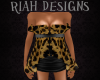 Blk/Leopard Sheer Dress