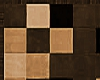 Brown Beige Checker Rug