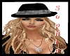 Silver Sequin Black Hat