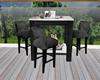 :3 Black Patio Table