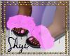 $ Pink Fur Slides
