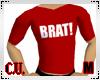 BRAT! dk red T-Shirt (M)