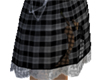 Plaid chained skirt