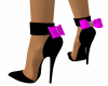 Black Shoes w Pink Bow